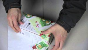 Lifehack: Wie man in nur 15 Sekunden ein Geschenk verpackt