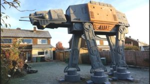 giant, walk-AT-AT in your garden