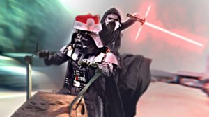 As Darth Vader celebrates with retail Kylo Reindeer Christmas