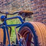 Mr-Mash a bicycle with car tire has built