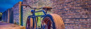 Mr-Mash hat sich ein Fahrrad mit Autoreifen gebaut