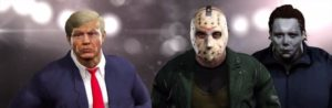 Jason Voorhees y Michael Myers vs Donald Trump