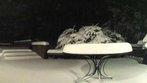 Massiver Schneefall im Zeitraffer