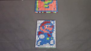 "Stop-Motion ""Super Mario"" animation gjord 961 Rubik's Würfeln"