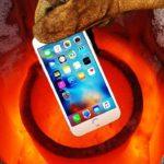 Hva skjer, hvis du har en iPhone 7 kaster i smeltet aluminium
