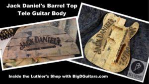 Als een elektrische gitaar is een Jack Daniel's Barrel