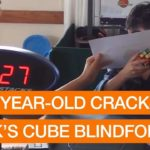 8 Age solves blind the Rubik's Cube