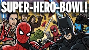SUPER-HERO-BOWL: The slaughter if 100 compete superheroes and movie characters against each other