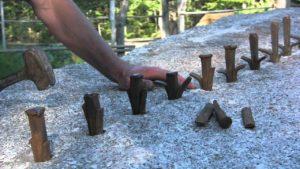 Nasıl 12 elle granit bölünmüş tonluk blok
