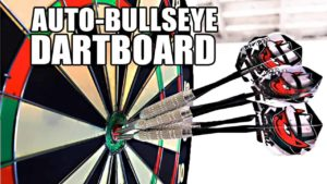 Auto-Bullseye Dartboard: Thanks to motion tracking arrows always end up with this dart board in the middle