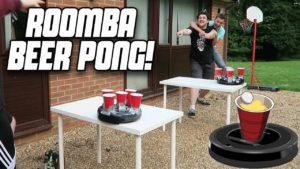 Öl Pong robotar med dammsugaren