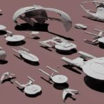 "The spaceships from ""Star Trek"" Size comparison"