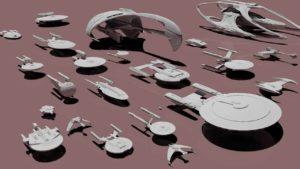 """Die Raumschiffe aus """"Star Trek"""" comparación de tamaño"""