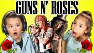 The reactions of children, when the first time Guns N' listen Roses