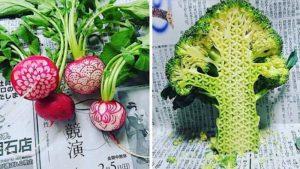 Gaku skjære mønstre i frukt og grønnsaker