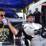 Liviu Opran makes race car sound with a can of
