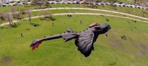 """""""Drachen zähmen leicht gemacht"""": desenhar desdentado como o kite dragão 3D através do ar"""
