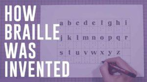 """Wie die Blindenschrift """"Braille"""" skapas"""