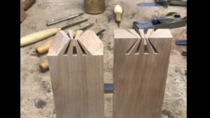be made as in a Japanese carpentry complex wood joint