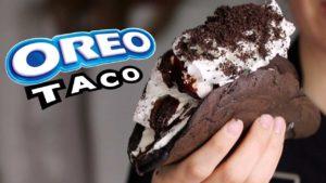 cómo hacer Oreo Tacos