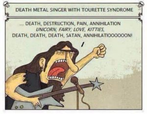 cantor Death Metal com síndrome de Tourette