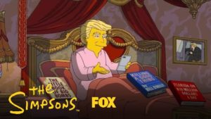 The Simpsons på 100 Trump dag