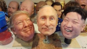 Superrealistische Masken von Trump, Putin und Jong-un bei eBay