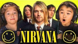 Kinder hören das erste Mal Nirvana