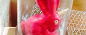 Pinker Einhorn-Osterhase