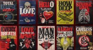 80er Jahre Pop-Songs als Einband von Stephen King Horror-Romanen