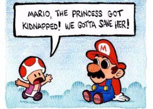 Super Mario en setas