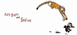 They deny and Shiva: The Walking Dead meets Calvin and Hobbes