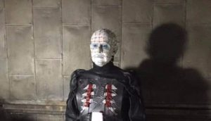 Hellraiser: Doug Bradley slips for the first time 12 Years back to his Pinhead costume
