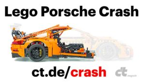 Lego Porsche Crashtest in Slow-Motion