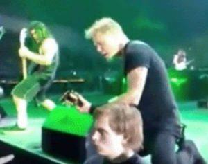 J'ai récemment visité un concert de Metallica