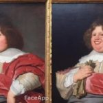 Com FaceApp no ​​Museu