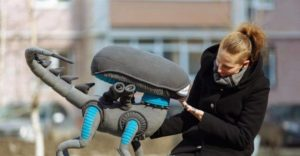 Alien Xenomorph plush is as big as a dog