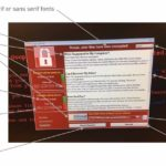 The user interface of WannaCry