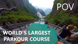 Der längste und steilste Parkour-Kurs der Welt aus der Ego-Perspektive
