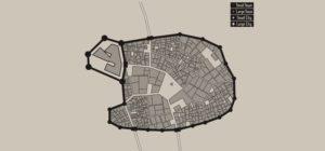 Middeleeuwse kaart gnerator - Middeleeuwse stad Layout Generator