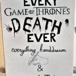"death of ""Game of Thrones"" traced by hand and clever mounted"