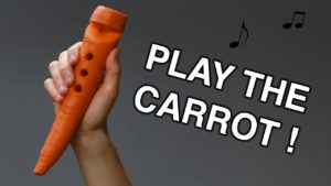 How to carve out a carrot flute
