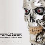 Terminator endoskeleton skull bust as multimedia speakers, Camera, Alexa and more