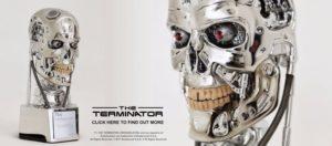 Terminator Endoskeleton Schädel Büste als Multimedia-Lautsprecher, Kamera, Alexa und mehr