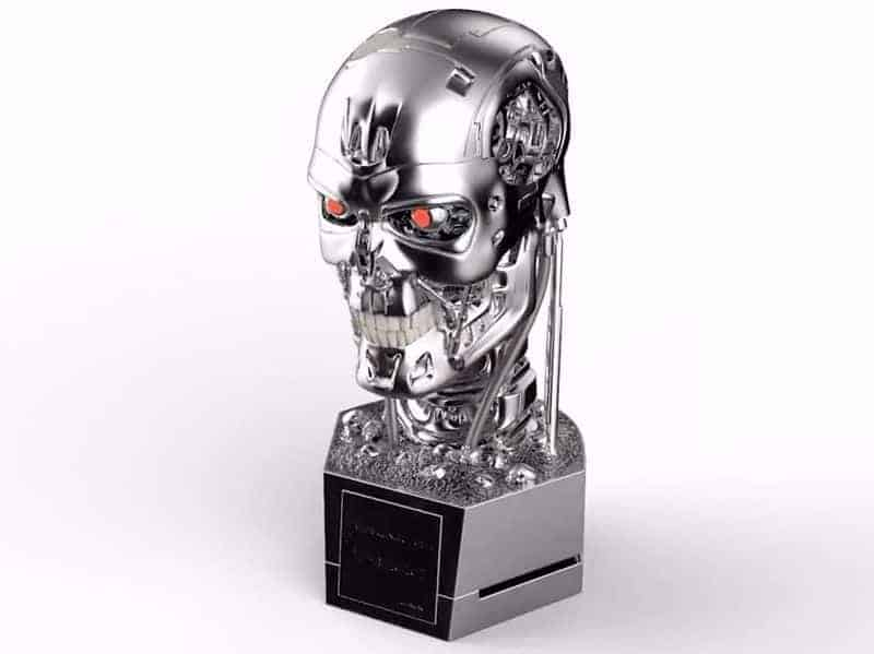 terminator endoskeleton sch del b ste als multimedia. Black Bedroom Furniture Sets. Home Design Ideas