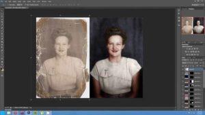Digitale Aufbereitung und Kolorierung von Fotos im Zeitraffer