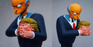 Donald Trump als Actionfigur - unmaskiert