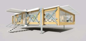 Ti Fold Cabin Box: Hus bygget op automatisk