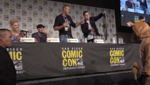 Vikings: Travis Fimmel crashed in a kangaroo costume the Comic-Con Panel