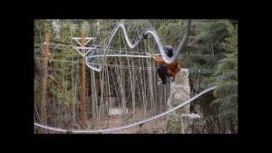 Die Achterbahn-Seilrutsche